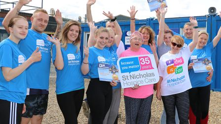 The parachutists raised �6,000 for the hospice Picture: ST NICHOLAS HOSPICE CARE