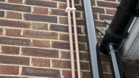 Concerns: Residents fear metal thieves may take the copper pipes fitted to the outer walls of their