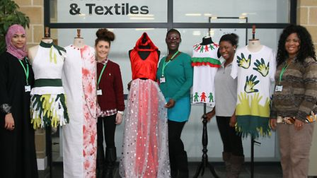 Barking and Dagenham fashion students with their creations