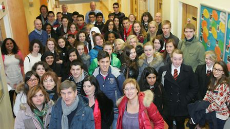 Barking Abbey pupils meet with international exchange students from four European countries