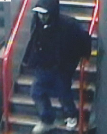Hoodie: Detectives would like to speak to this man caught on CCTV at Tower Gateway DLR on New Year's