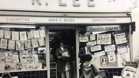 Ronnie Lee's newsagents in Lodge Avenue, Dagenham.