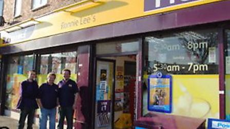 Ronnie Lee's newsagents in Lodge Avenue, Dagenham, as it is today
