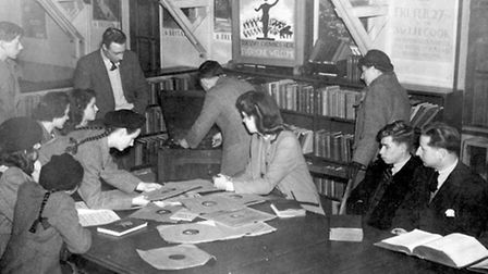 Dagenham Library Service was the first to introduce a gramophone collection. Photo shows Wantz Music