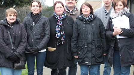 Margaret McLoughlin, far right, with some members of Friends of Parsloes Park