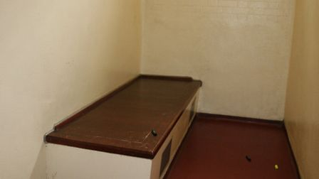 A cell at Barking Police Station