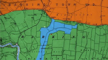 A map showing the Great Danger lake in Barking