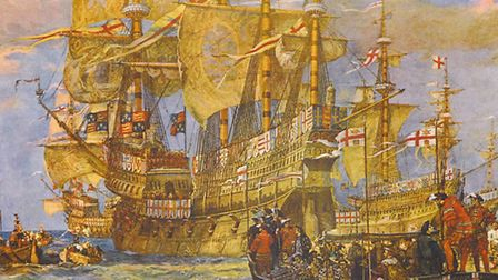 Henry VIII's ship Harry Grace of God, which travelled across the Great Danger lake