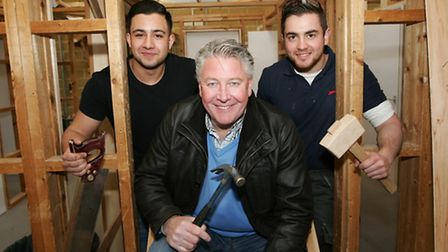 Tommy Walsh with students Dav Hancock and and Ross Walker