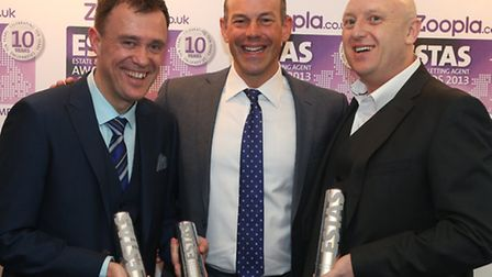 The ESTA estate and letting agent awards 2013 Darren Griffiths (left), TV's Phil Spencer and Andy Th