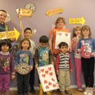 Dagenham Library hosts a Mad hatter's tea party. Children have fun playing games and doing art work