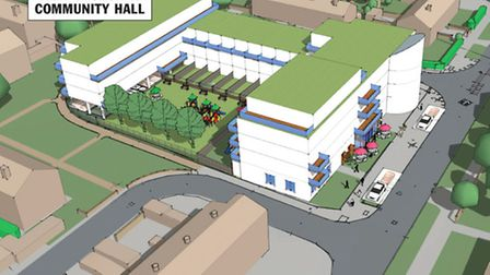 A 3d image of the proposed development at Marks Gate, Dagenham