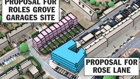 The proposed development two other areas aprart from the church site