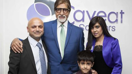 Bollywood actor Amitabh Bachchan opens a new branch of Caveat Solicitors in Ripple Road, Barking