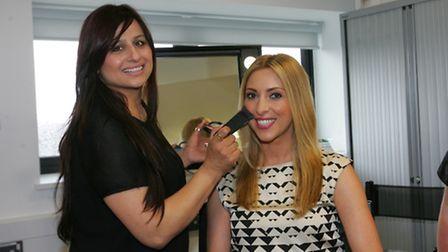 TOWIE make up artist Gini Bhogal with Apprentice finalist Kate Walsh