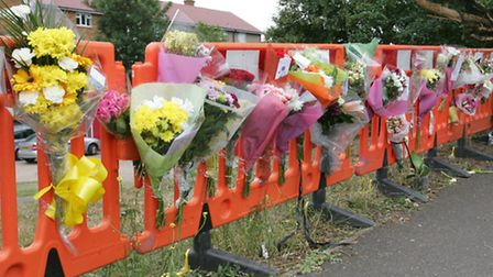 Flowers at the scene