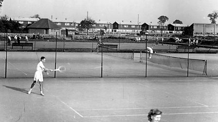 Residents play tennis in Old Dagenham Park in the1950s