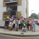Vicky Knight and her family and friends return to the site of the former pub, where a block of flats