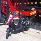 A pizza hut moped, similar to the one stolen by Stephen Cope in Dagenham