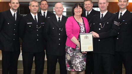 The parks police with their Borough Recognition Award