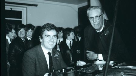 Dudley Moore visits his former school Dagenham County High in 1966