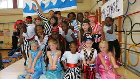 Pirate dancers from Southwood School