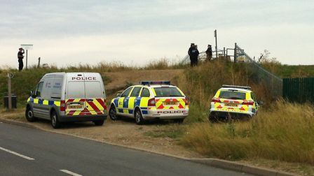 Police at the scene of the murder on the Isle of Sheppey. Credit: The Sheerness Times Guardian.
