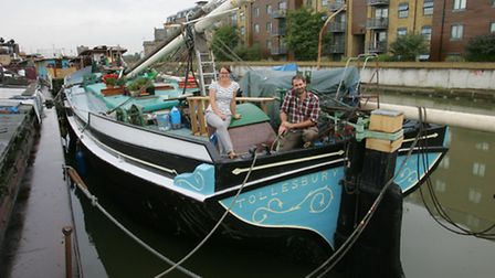 Rachel and Euan on the stern