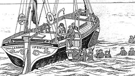 An illustration of the Tollesbury at Dunkirk