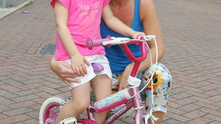 Tracey Osborne-Facey was told she couldn't teach her three-year-old grandchild Lilly to ride her bik