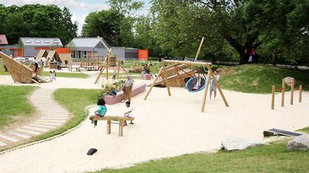 The playground in Barking Park today