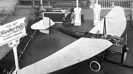 Hadley Page 'Type D' aeroplane made in Barking, being exhibited at Olympia, 1911