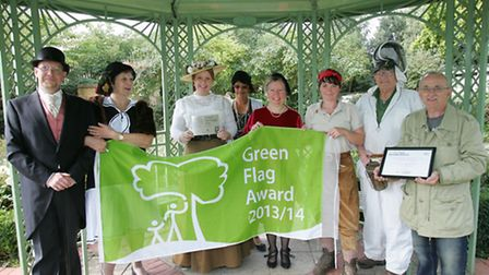 Staff in costume with their green flag award