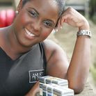 Abigail Shillingford with her range of beauty products