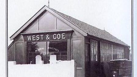 West & Coe's first office, called the White House