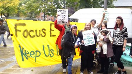 Focus E15 young mums petitioning to stay in Newham.