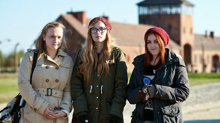 From left: Dagenham Park Sixth Form student Lucy Spencer, 16, with Ellese Lee, 16, and Kamie Rothon,