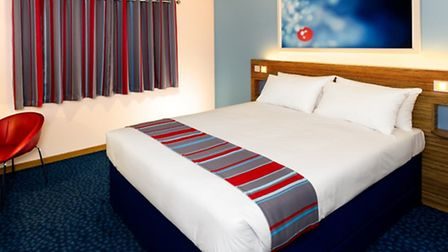 The new room design at Barking Travelodge