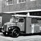 Essex Fire Brigade engines lined up in the late 1950s (photo courtesy of Colin Pickett at Essex Fire