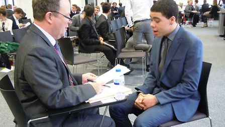 Barking and Dagenham College students getting advice on interview skills