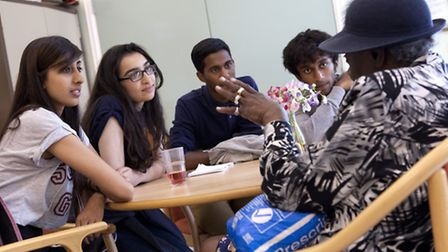 Young people on NCS visit a day centre (photo: Adam Hollingworth)