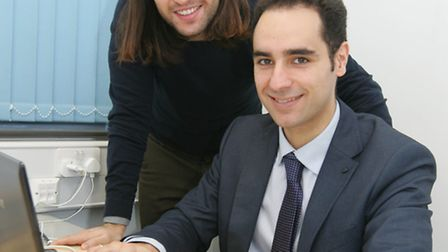 Spanish businessmen Juan Galicia, left, and Jesus Manso, right, are linking British sellers with Spa