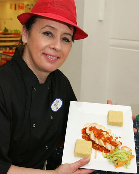 Beam Primary School chef Adrienne Williams is one of eight finalists in the regional final of the Sc