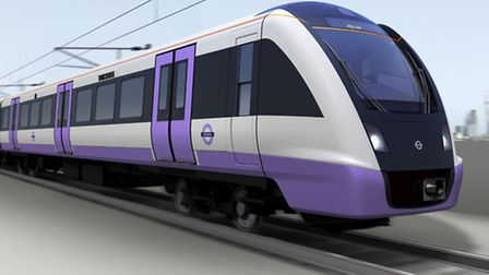The new Crossrail train which developers say will improve journeys to London and Essex. Picture: TfL