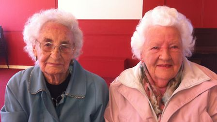 Florence King (left), 88, and Muriel Baker, 87
