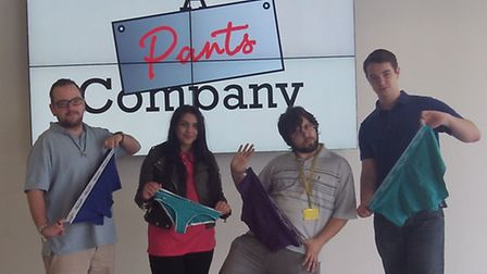 A Pants Company comprised of Barking & Dagenham College students (from left to right) Thomas Gill, S