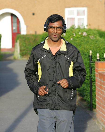 Suresh Bheri who faced unwanted attention during a jog in Parsloes park