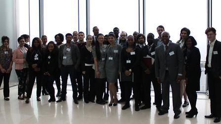 Young entrepreneurs from Barking & Dagenham College took part in a challenge at Barclays HQ (pic: Be