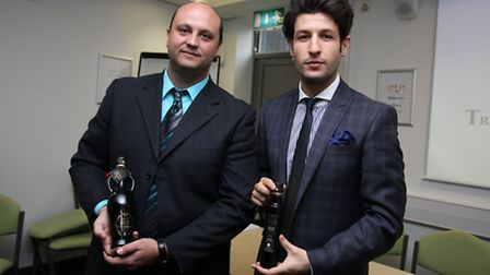 TradexUK's chief executive Juan Galicia Montero (right) at the recent international olive oil trade