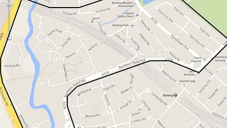 The dispersal zone in Barking.